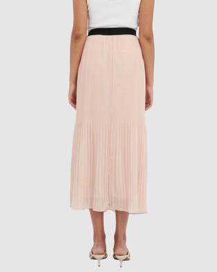 Forcast Cora Pleated Maxi Skirt - Pleated skirts (Blush)
