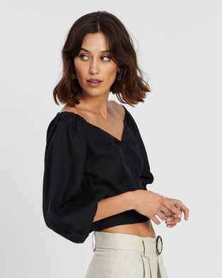 Saroka Rommy Top - Cropped tops (Black)