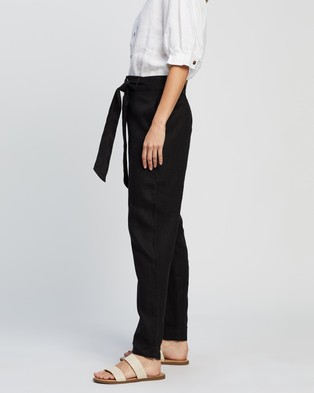 Ceres Life Relaxed Linen Pants - Pants (Black)