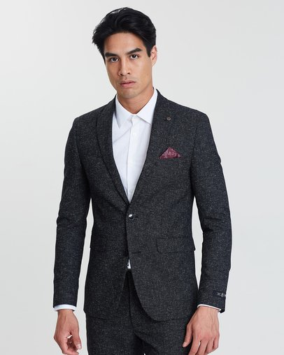 Prince of Wales Check Tailored Fit Suit Jacket by Burton Menswear Online    THE ICONIC   Australia 642b8d6ca53