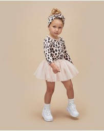 Huxbaby - Ocelot Rib Long Sleeve Ballet Dress - Kids