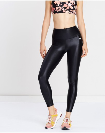 Running Bare - Ab Waisted Fight Club Full Length Tights