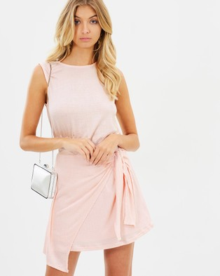 Atmos & Here – Ella Mini Dress Baby Pink