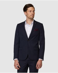 Jack London - Navy Windowpane Suit Jacket