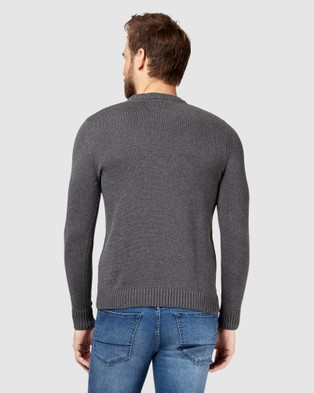 Jeanswest Reggie Crew Knit - Jumpers & Cardigans (Charcoal Marle)
