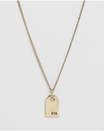 Icon Brand - Symbolic Engraved Dog Tag Necklace