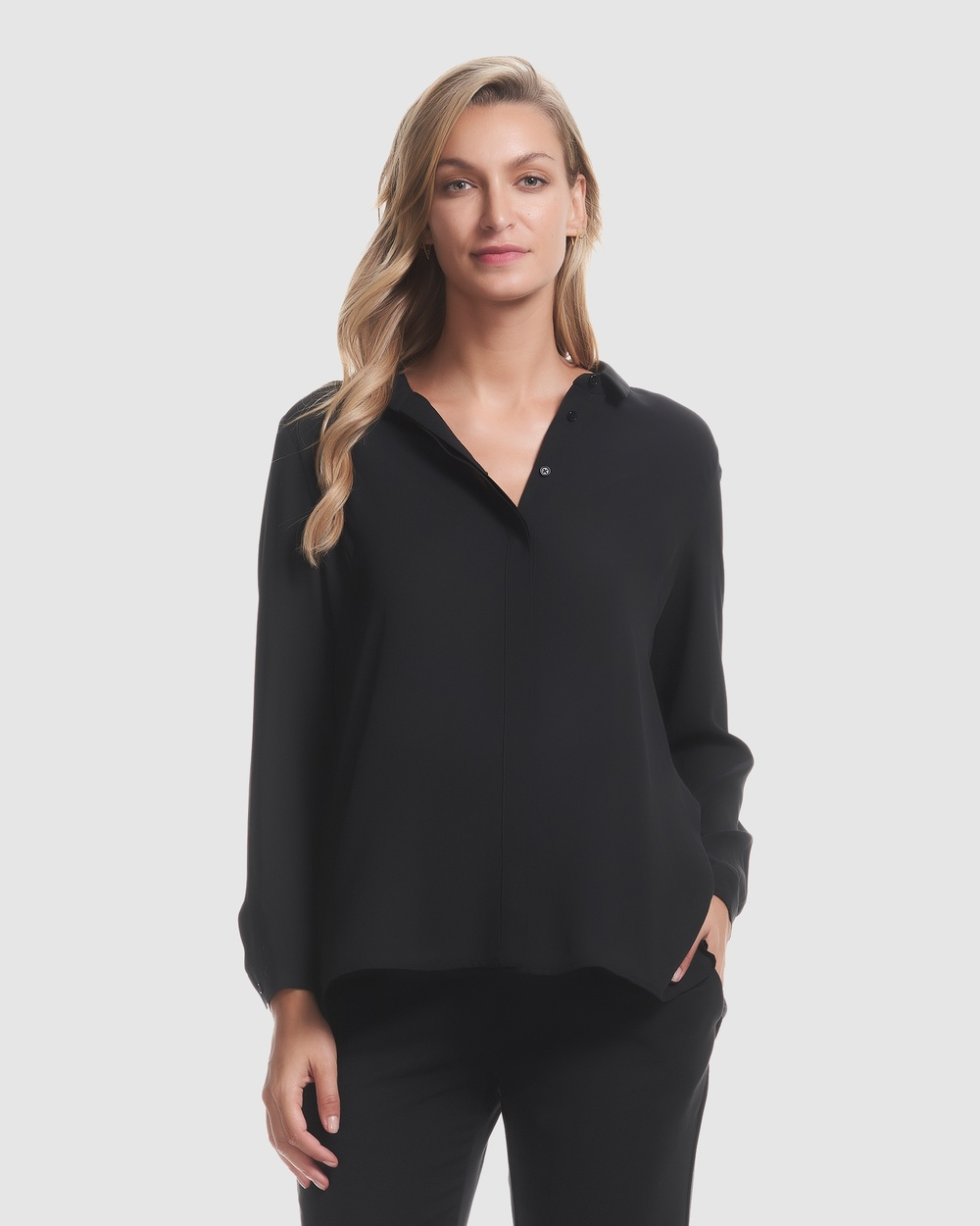 Soon Maternity Eva Pleat Back Shirt Tops Black Eva Pleat Back Shirt