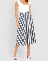 Forcast - Heidi Button Up Skirt