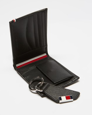Tommy Hilfiger Business CC and Coin Wallet & Key Fob Gift Set - Wallets (Black)