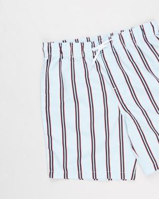 Free by Cotton On Bailey Boardshorts   Teens - Swimwear (Candy Stripe & Dusk Blue)