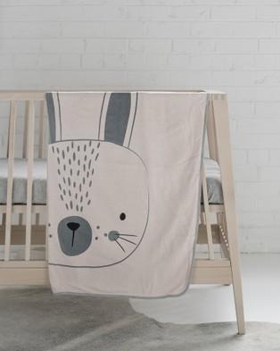 Mister Fly Pink Bunny Face Blanket - Blankets (Pink)