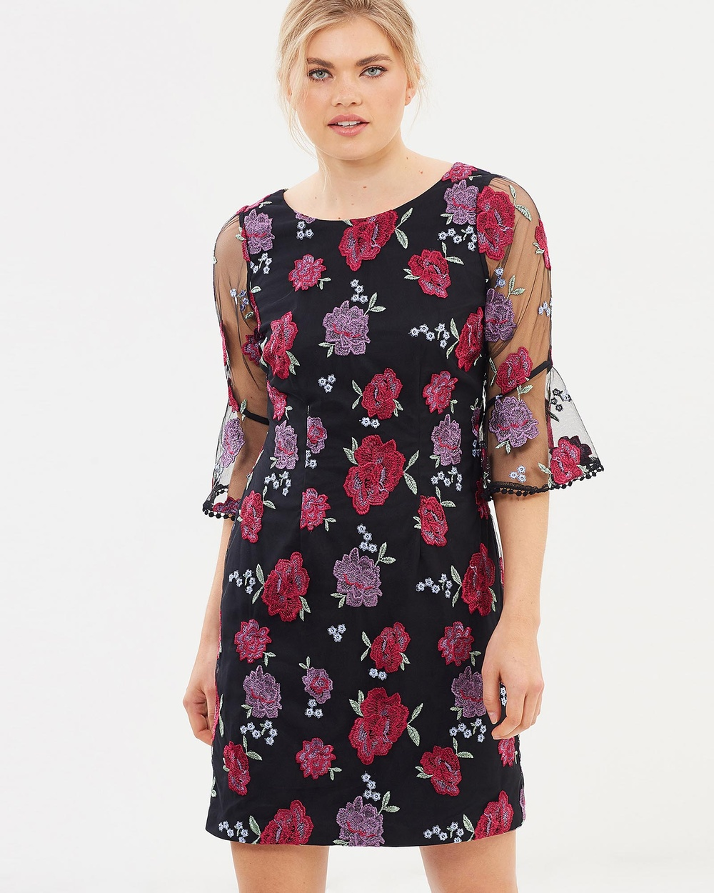 Review Azzurra Floral Dress Dresses Black & Multi Azzurra Floral Dress