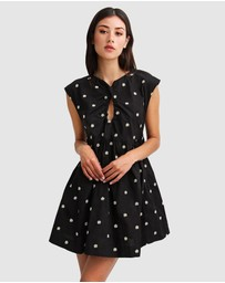 Belle & Bloom - Baby Doll Embroidered Dress