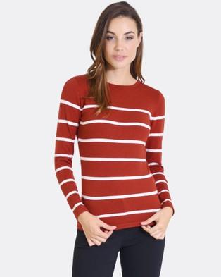 Forcast – Julia Knit Sweater – Tops (Rust)