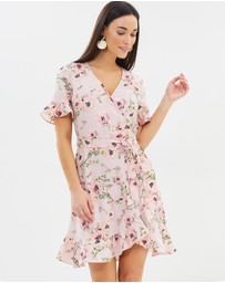 Dorothy Perkins - Faux Wrapped Floral Dress