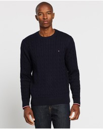 Tommy Hilfiger - Organic Cotton Cable Crew Neck Knit