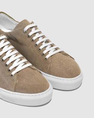 VoR??utte - Lyon Low Top Sneakers - Sneakers (Khaki)