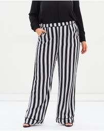 Atmos&Here Curvy - Tiffany Stripe Pants