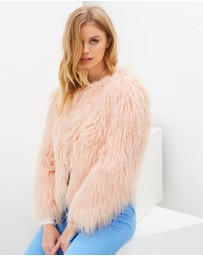 Miss Selfridge - Mongolian Fur Coat