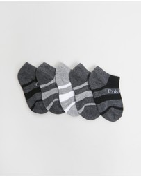 Calvin Klein - Athletic Colour Block No Show Socks 6-Pack - Kids-Teens