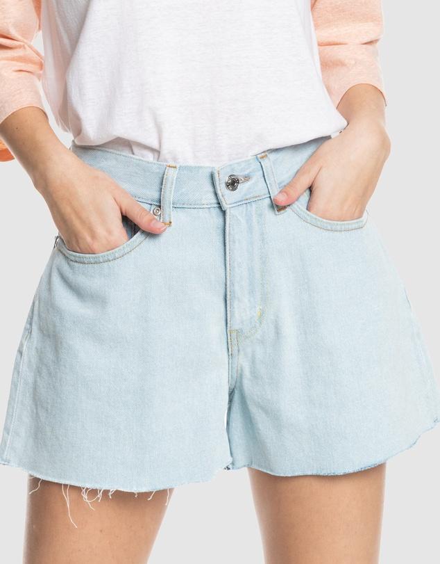 Women Womens The Denim Organic High Waist Denim Shorts