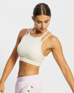 Nike Dri FIT Indy Yoga Bra - Crop Tops (Pearl White & Pale Ivory)