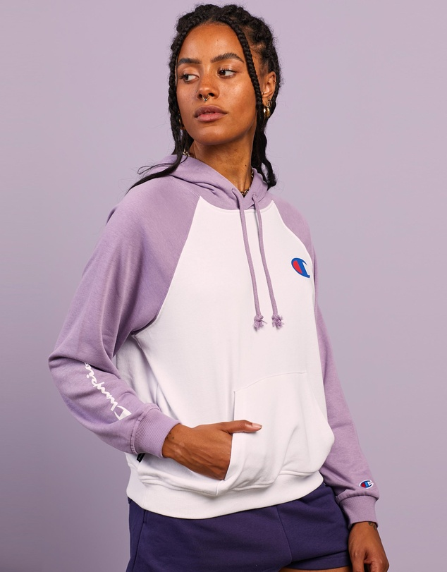 Women French Terry Colour Block Hoodie