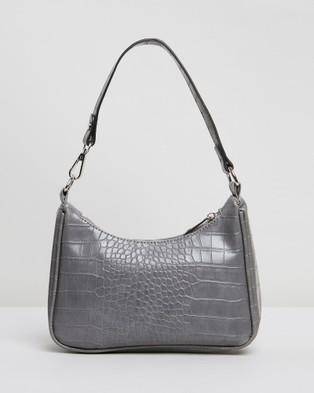 PETA AND JAIN Tal Shoulder Bag - Handbags (Grey Croc)