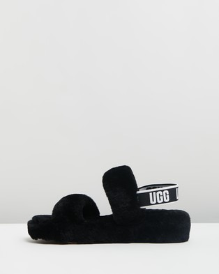 UGG Women's Oh Yeah Slippers Sandals Black