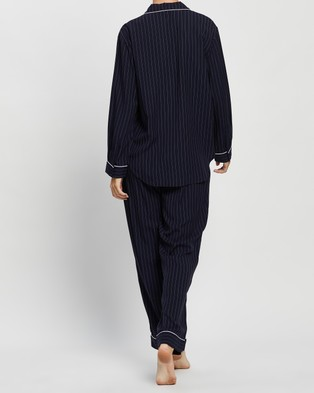 Jasmine and Will Classic Long Set - Two-piece sets (Navy Pinstripe)