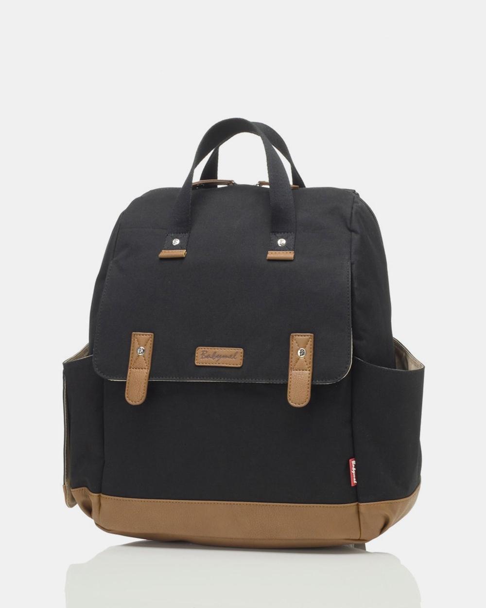 Babymel Robyn Convertible Backpack Nappy Bag Backpacks Black