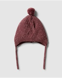 Wilson & Frenchy - Knitted Cable Bonnet - Babies