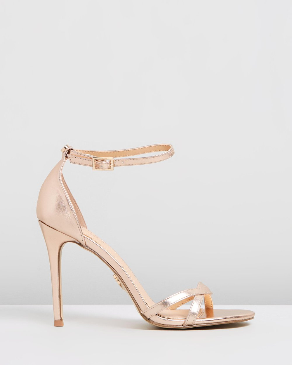 9b47c0667e1 Twist Strap Barely There Heels by Lipsy Online