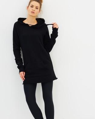 Spiritual Gangster – I Am The Light Hoodie Dress – Hoodies Black