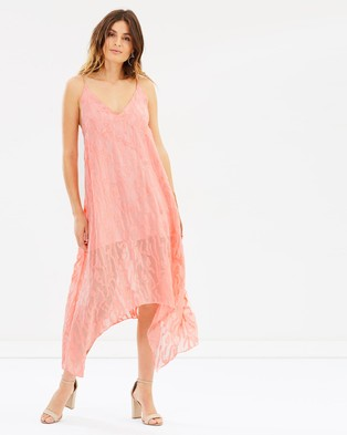 LIFEwithBIRD – Many Words To Say Dress Broken Line Flamingo