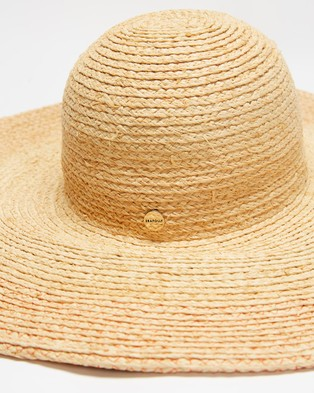 Seafolly Contrast Stitch Oversize Hat - Hats (Natural)
