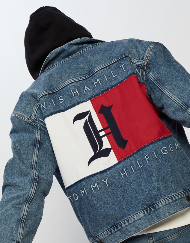 Tommy Hilfiger - Lewis Hamilton x Oversized Hooded Denim Jacket