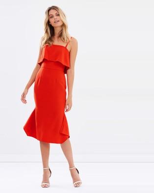 Cooper St – Aurora Rose Dress Red