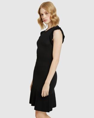 Oxford Victoria Knitted Mini Dress - Dresses (Black)