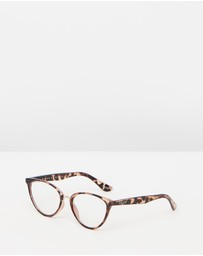 Quay Australia - Rumours Tort Cat Eye Blue Light Glasses