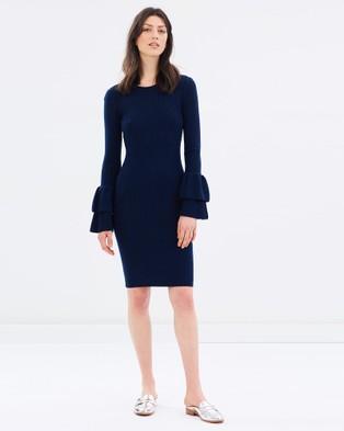 SABA – Ginny Tiered Sleeve Dress – Bodycon Dresses Navy