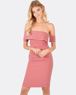 Forcast – Esther Asymmetric Dress Blush