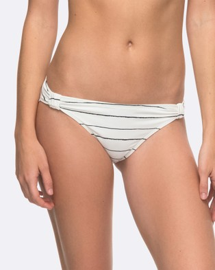 Roxy – Womens Roxy Essentials 70's Separate Bikini Pant – Swimwear (MARSHMALLOW SWIM PEN)