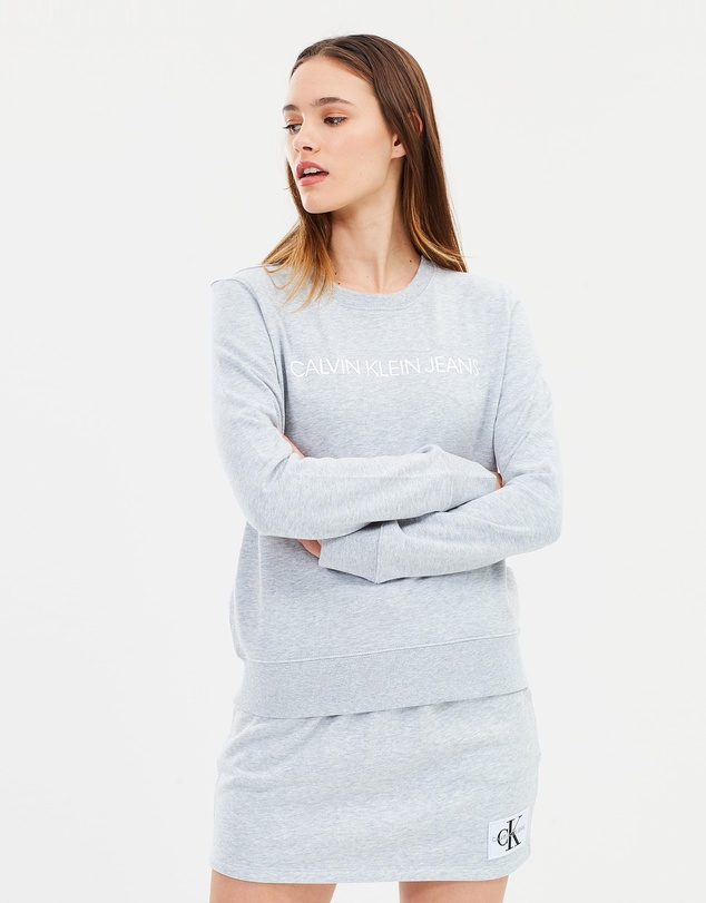 56a3e41c450 Institutional Logo Sweatshirt by Calvin Klein Jeans Online