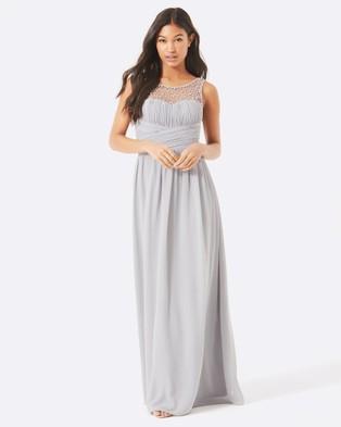 Buy Little Mistress - Embellished Maxi Dress - Bridesmaid Dresses (Grey) -  shop Little Mistress dresses online