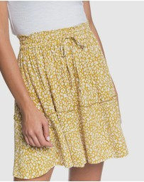 Roxy - Womens Glitter Lake Crinkle Printed Skirt