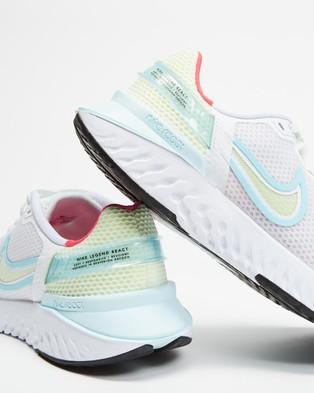 Nike Legend React 3   Women's - Training (White, Glacier Ice, Black, Barely Volt & Burnt Crimson)
