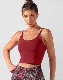 Lorna Jane - Cherry Cropped Excel Tank
