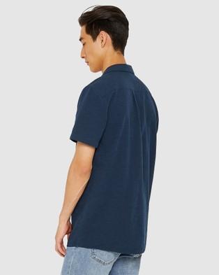 Jag The Short Sleeve Summer Shirt - Shirts & Polos (blue)