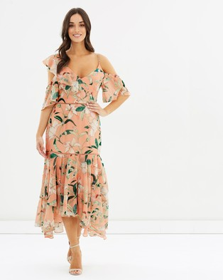 Cooper St – A Place In The Sun Flounce Dress – Printed Dresses Print